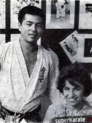 Тадаши Накамура и Беатрис Янг (первая женщина бранч-чиф киокушина)
