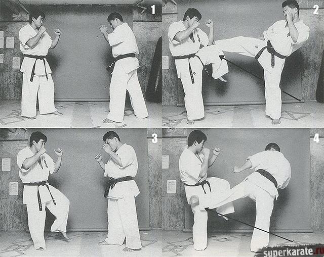 Лоу-кик в исполнении Хироки Куросава