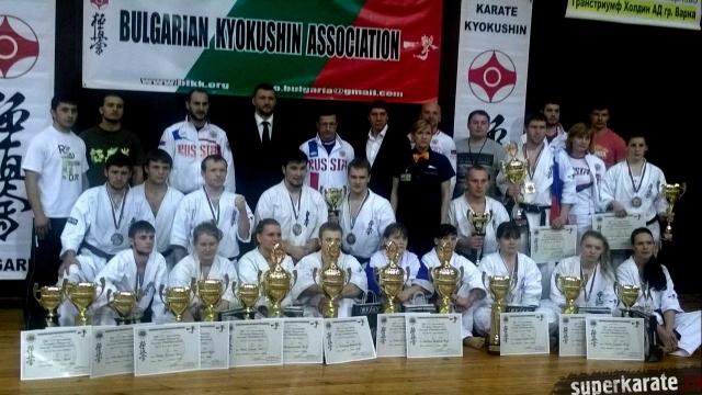 Призеры 28 Чемпионата Европы по киокушинкай каратэ