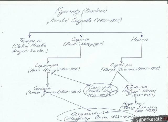 Схема развития каратэ
