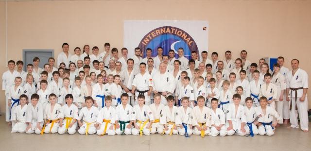 Участники сборов по кёкусинкай в Хабаровске