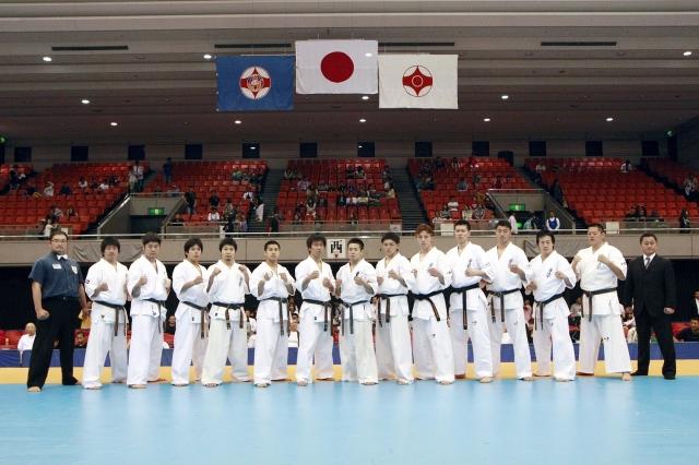 Сборная команда Японии на Чемпионат мира по киокушинкай