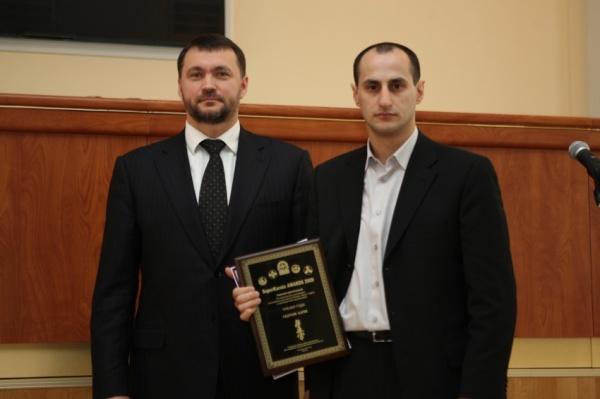 Победитель номинации тренер года Карен Гядукян и шихан Александр Аркадьевич Ипатов
