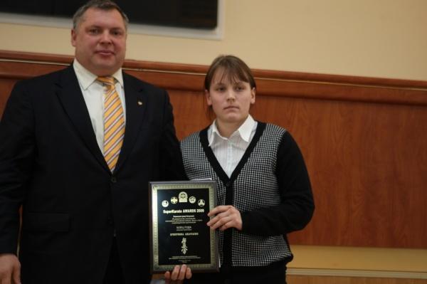 Анастасия Хрипунова победительница номинации Боец года среди женщин