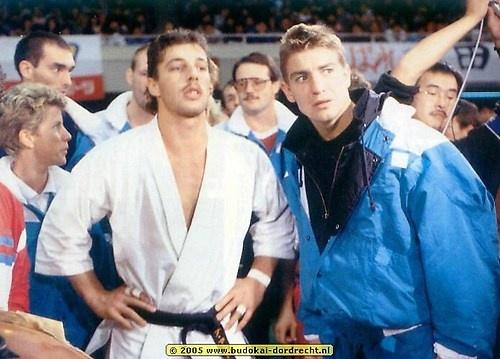 Анди Хуг и Питер Смит на Чемпионате мира по каратэ киокушинкай