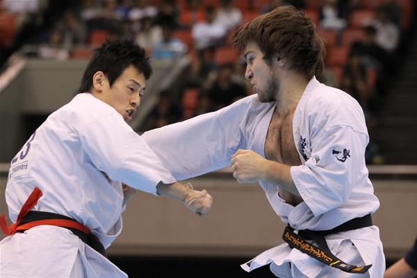 Тариел в финальном бою Чемпионата Японии по каратэ киокушинкай