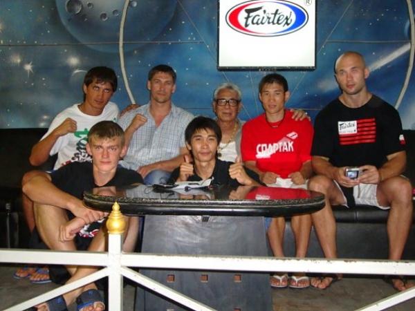 Сэнсей Денис Григорьев со своими учениками и соратниками по тренировочному лагерю