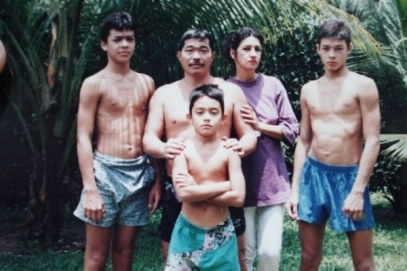 Лиото Мачида и его семья