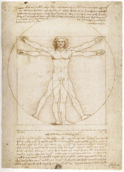 Антропометрия от Леонардо Да Винчи
