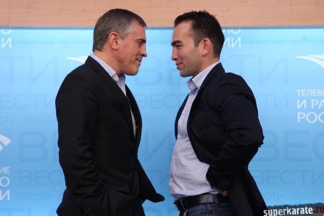 Битва под Москвой – 5. Пресс-конференция Майка Замбидиса и Бату Хасикова.