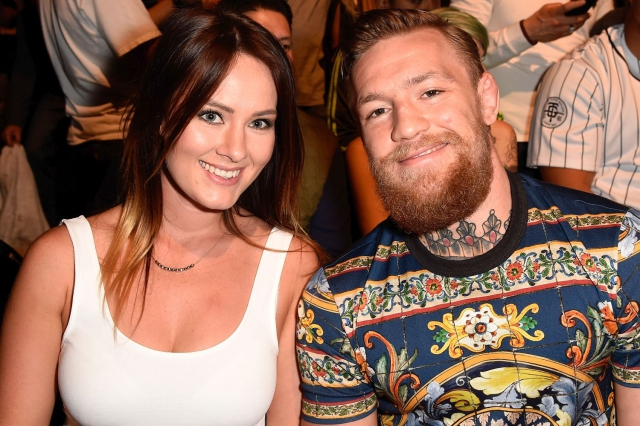 Ирландец Конор Макгрегор со своей женой