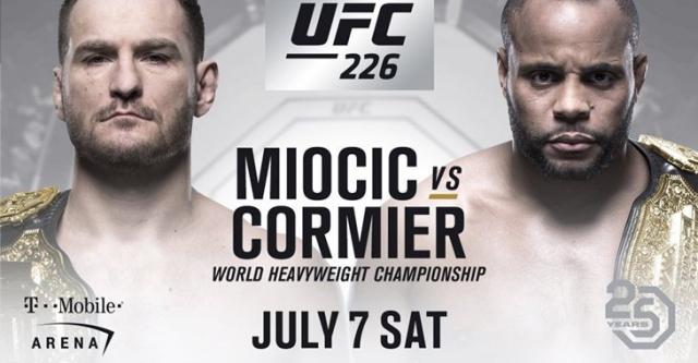 Миочич иКормье проведут бой затитул чемпиона UFC 7июля
