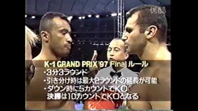 Франческо Филио против Энди Хуга и Сэма Греко в K-1. Боец киокусинкай начал свою карьеру в К-1 с побед над другими бойцами киокусинкай