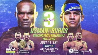 Первое промо турнира UFC 251: «Usman vs Burns»